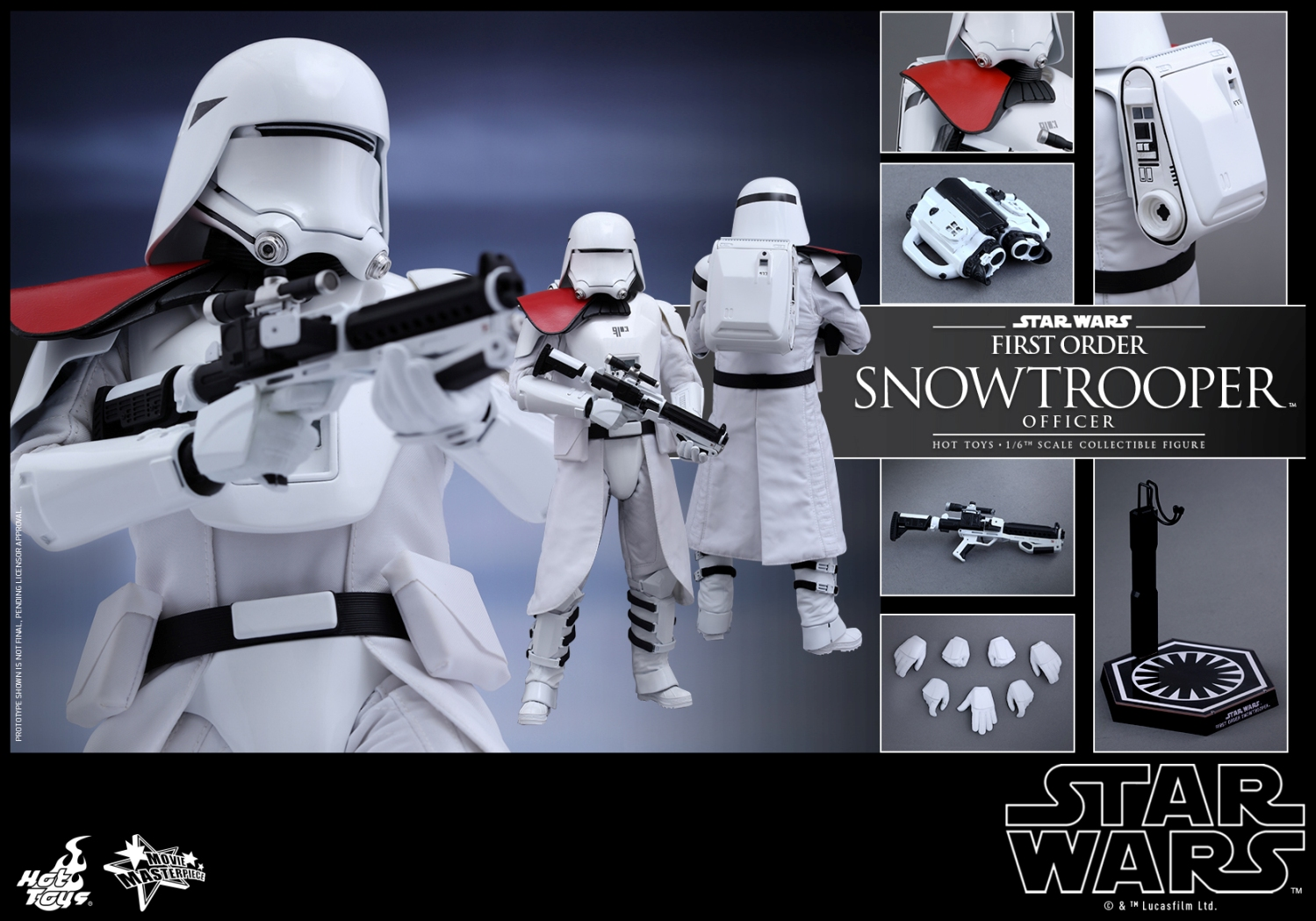 Hot Toys - Star Wars - The Force Awakens - The First Order Snowtrooper Officer Collectible Figure_PR10