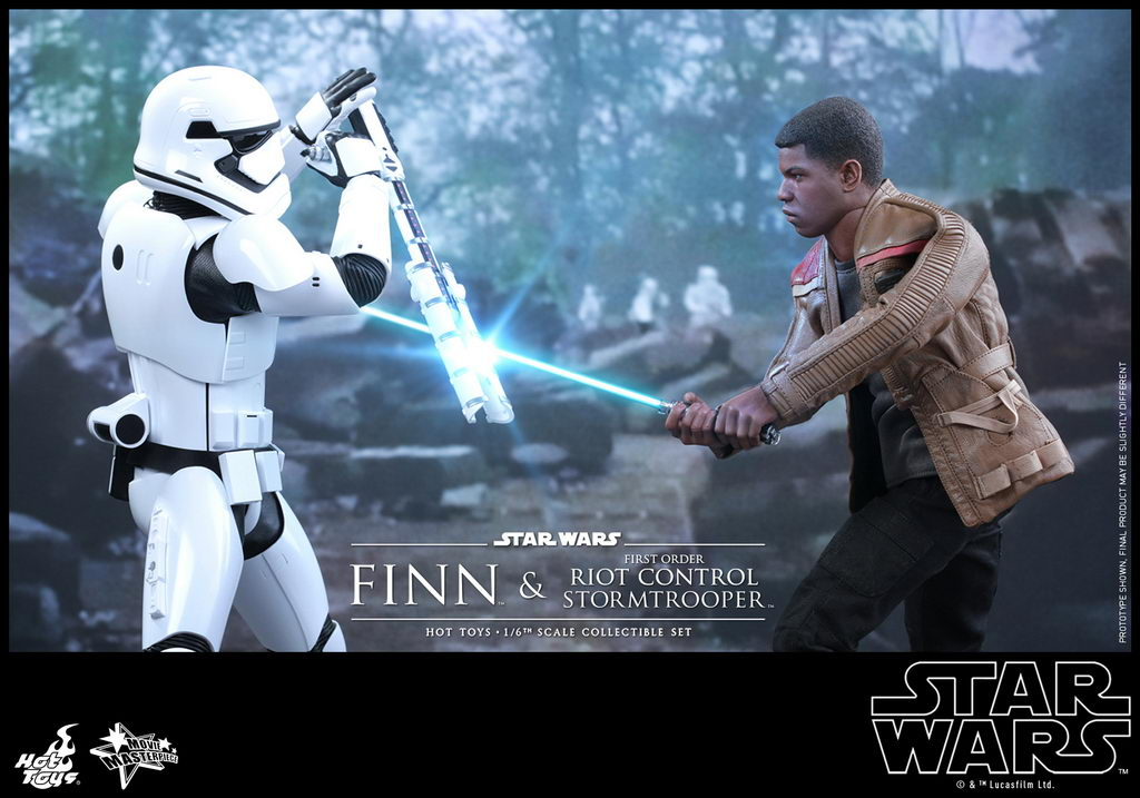 Hot Toys - SWTFA - Finn & First Order Riot Control Stormtrooper Collectible Set_PR1_resize