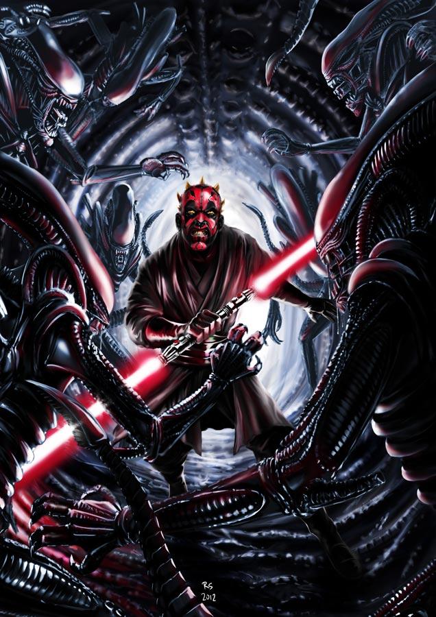 201607_darth_maul_vs_aliens_by_rhymesyndicate-d4n26rr