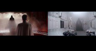 电影 Rogue One 与经典三部曲的镜头对比