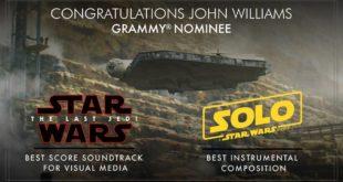 电影 EP VIII 及 SOLO 电影配乐获得第61届 Grammy Awards 提名