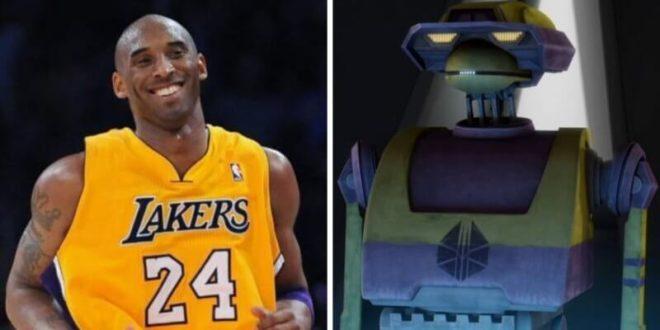 动画 Clone Wars 机械人 K2-B4 曾以 Kobe Bryant命名